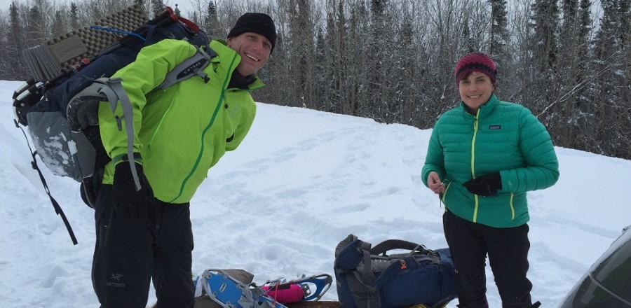 Lee's Cabin Overnight Snowshoe Hike